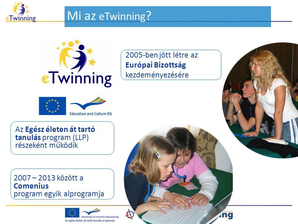 Mi az eTwinning 2005-ben jött létre az Európai Bizottság kezdeményezésére. Az Egész életen át tartó tanulás program (LLP)