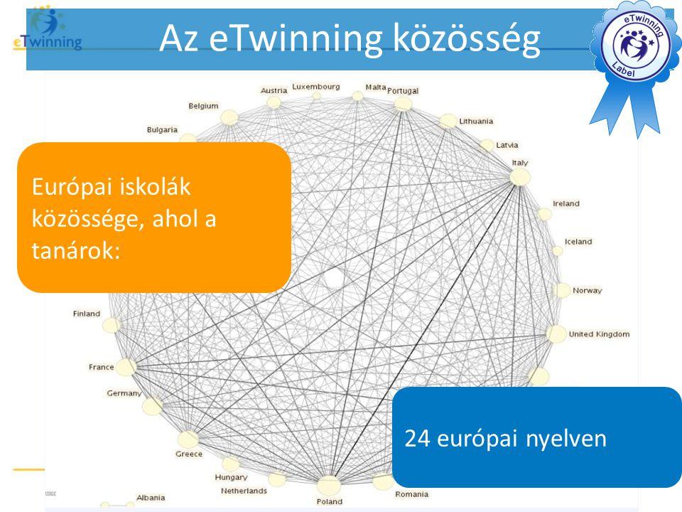 Az eTwinning közösség Európai iskolák közössége, ahol a tanárok: