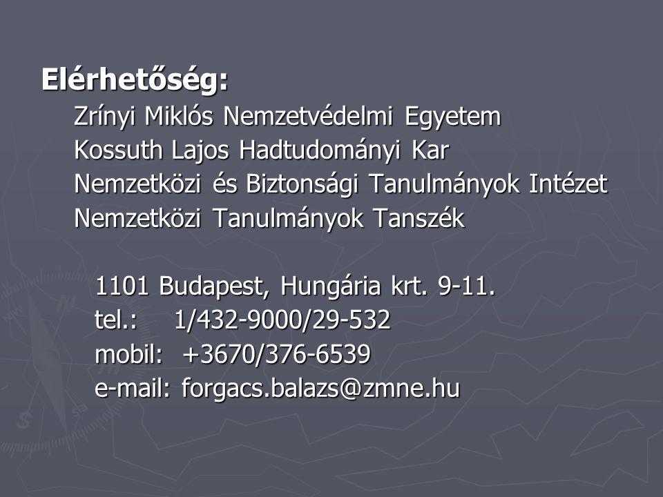 Elérhetőség: Zrínyi Miklós Nemzetvédelmi Egyetem