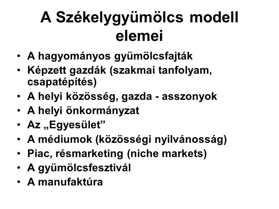 A Székelygyümölcs modell elemei
