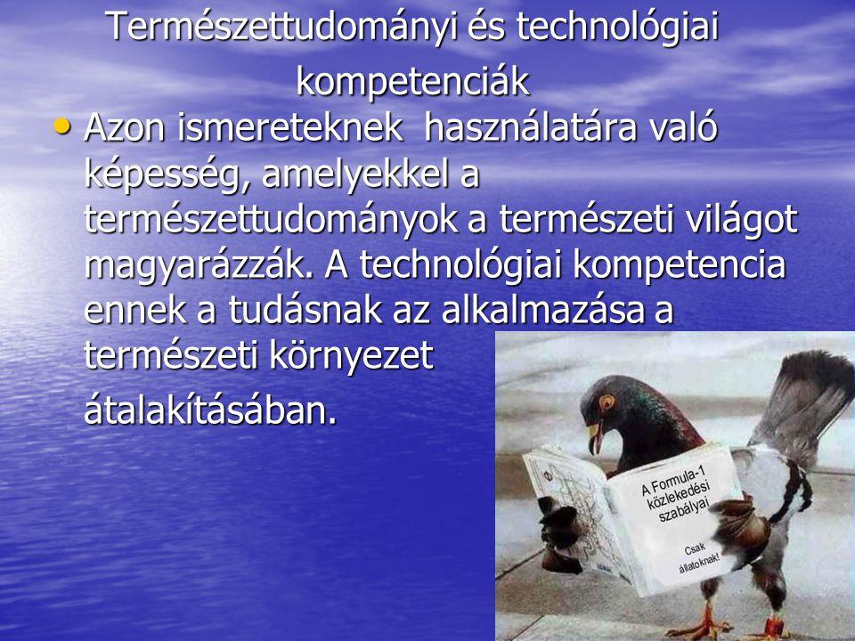 Természettudományi és technológiai kompetenciák