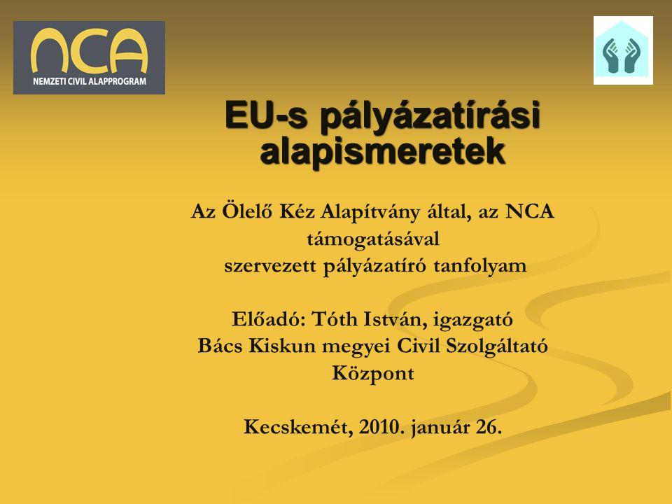 EU-s pályázatírási alapismeretek