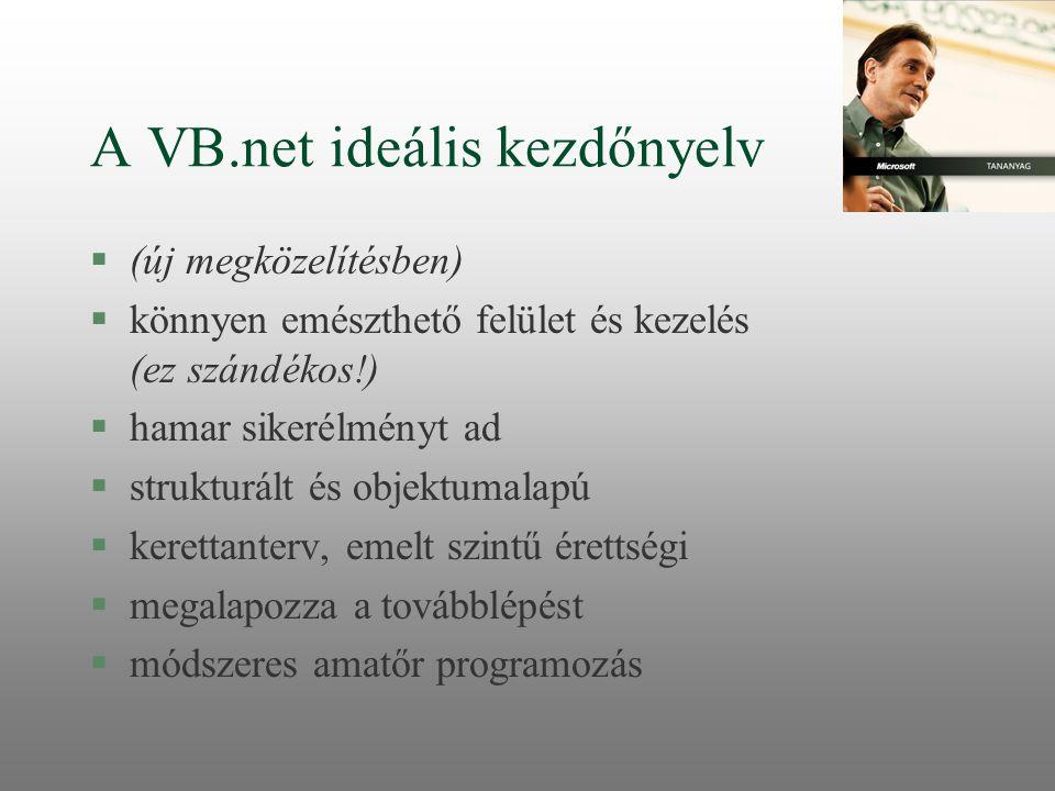 A VB.net ideális kezdőnyelv
