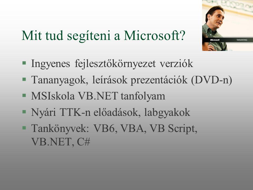 Mit tud segíteni a Microsoft