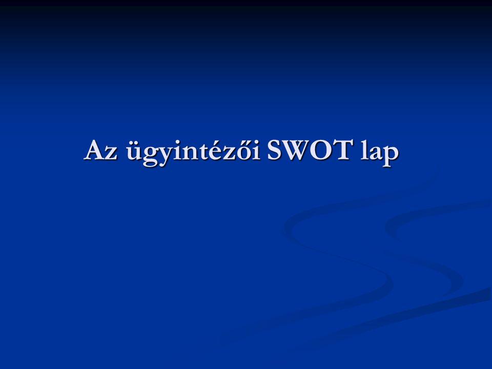 Az ügyintézői SWOT lap