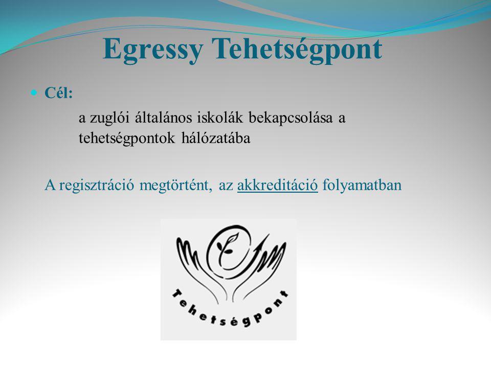 Egressy Tehetségpont Cél: a zuglói általános iskolák bekapcsolása a tehetségpontok hálózatába.