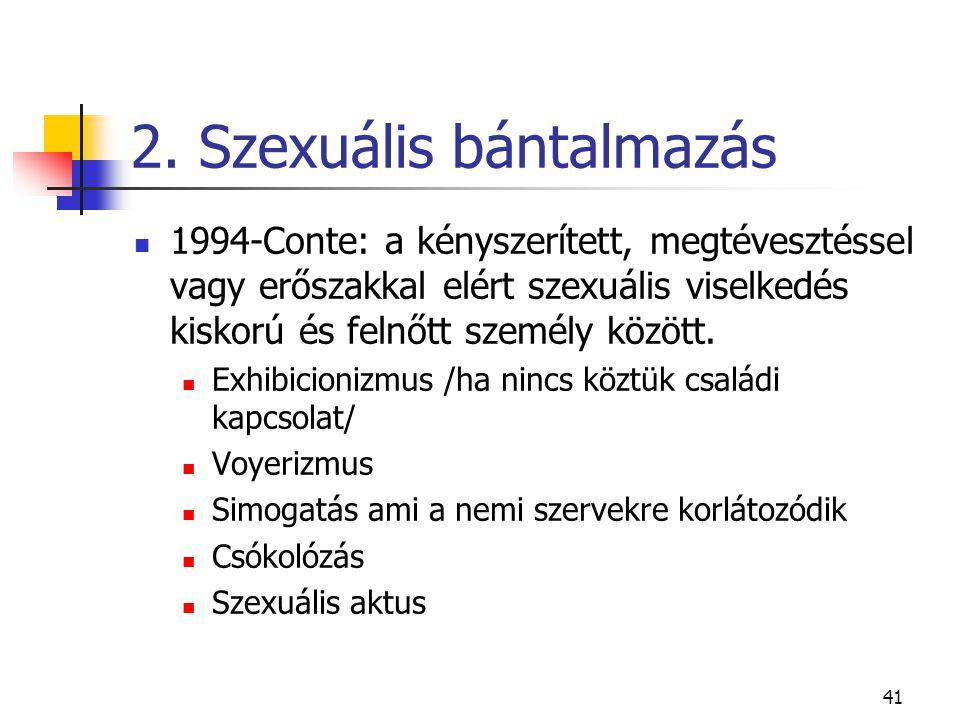 2. Szexuális bántalmazás