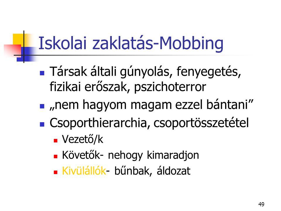 Iskolai zaklatás-Mobbing