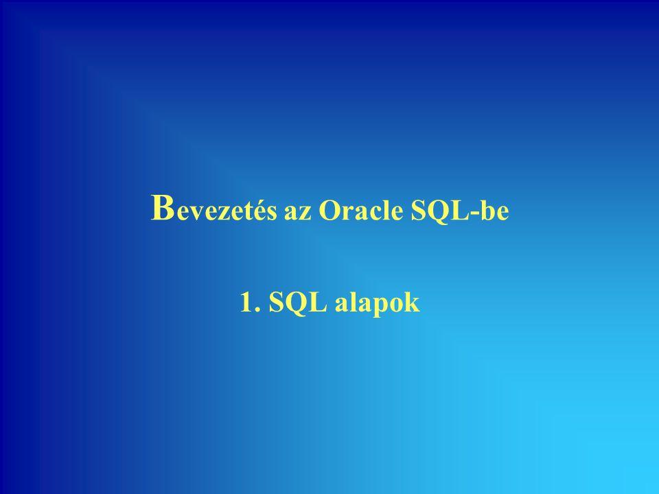 Bevezetés az Oracle SQL-be
