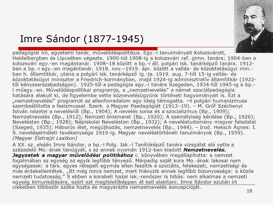 Imre Sándor (1877-1945)