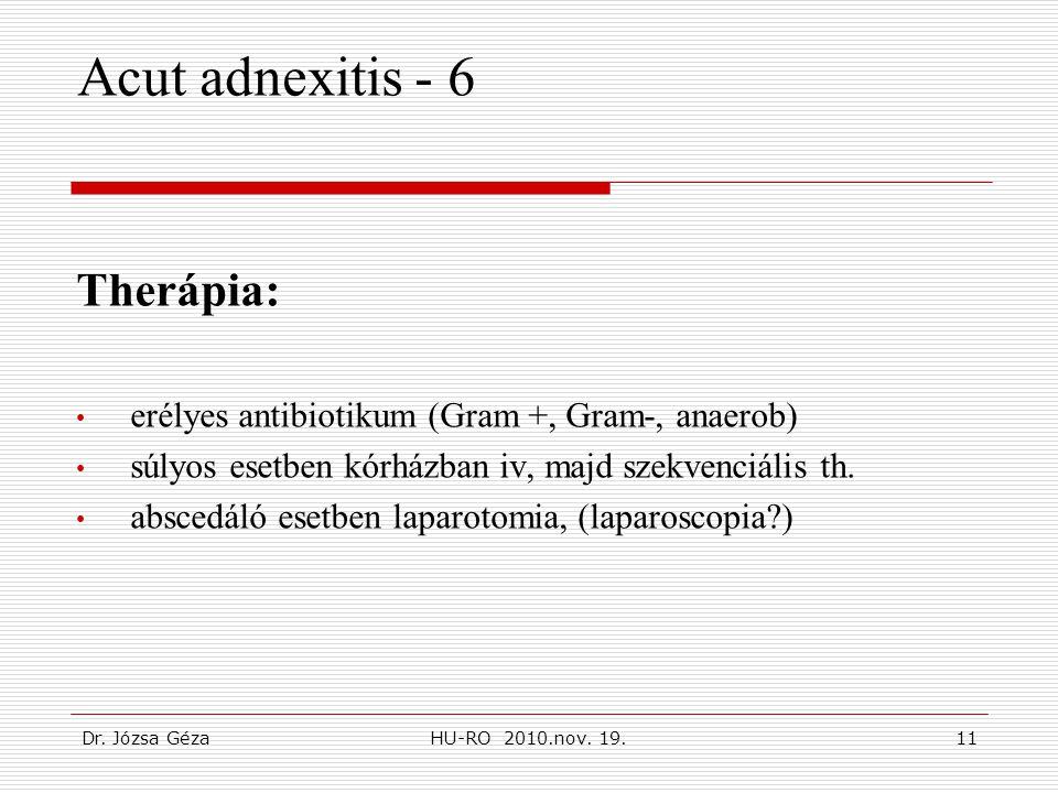 Acut adnexitis - 6 Therápia:
