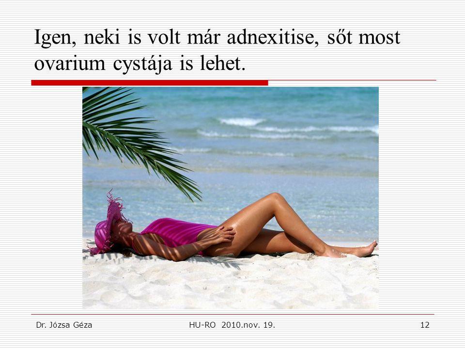 Igen, neki is volt már adnexitise, sőt most ovarium cystája is lehet.