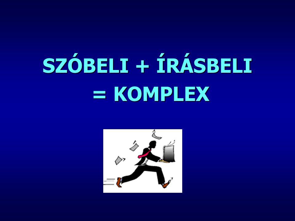 SZÓBELI + ÍRÁSBELI = KOMPLEX