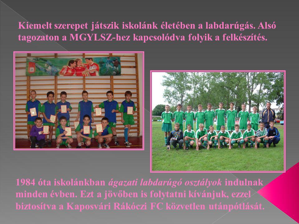 Kiemelt szerepet játszik iskolánk életében a labdarúgás