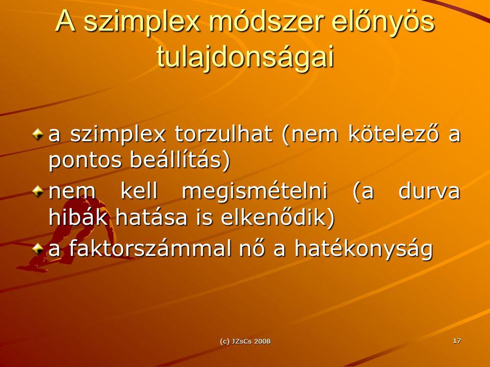 A szimplex módszer előnyös tulajdonságai