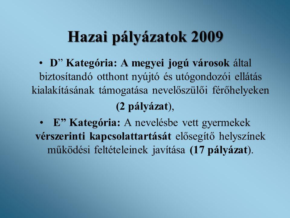 Hazai pályázatok 2009