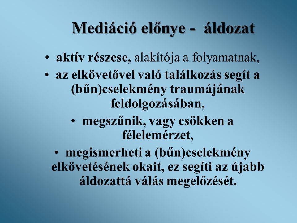 Mediáció előnye - áldozat