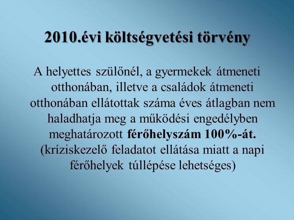 2010.évi költségvetési törvény