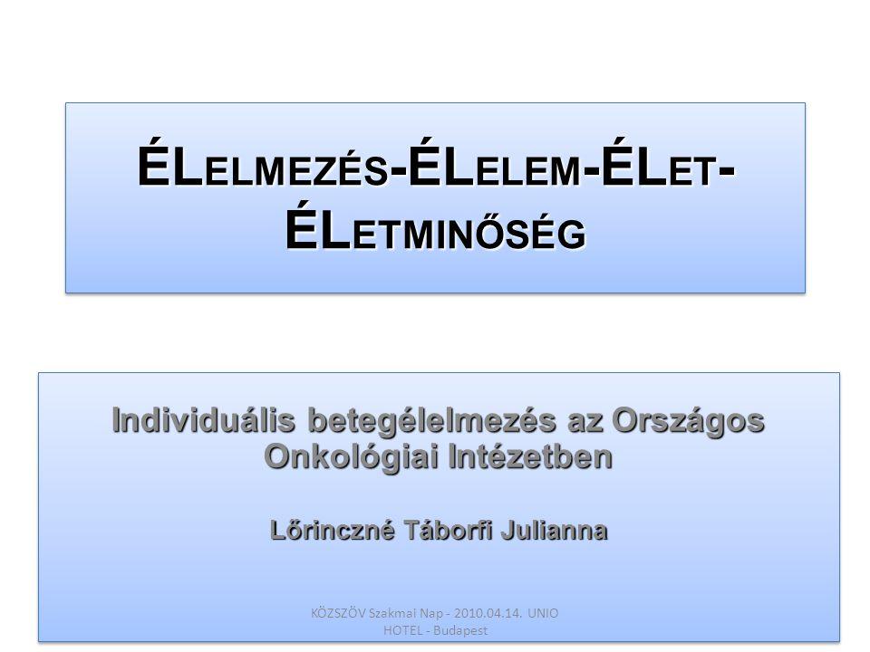 ÉLELMEZÉS-ÉLELEM-ÉLET-ÉLETMINŐSÉG
