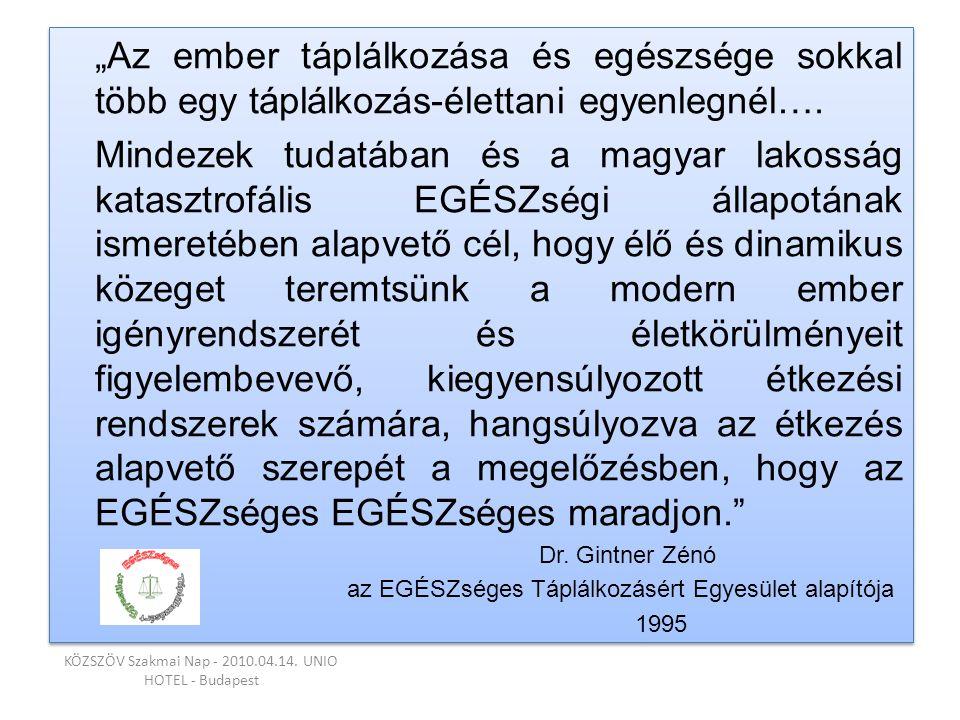 KÖZSZÖV Szakmai Nap - 2010.04.14. UNIO HOTEL - Budapest