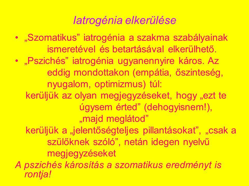 Iatrogénia elkerülése