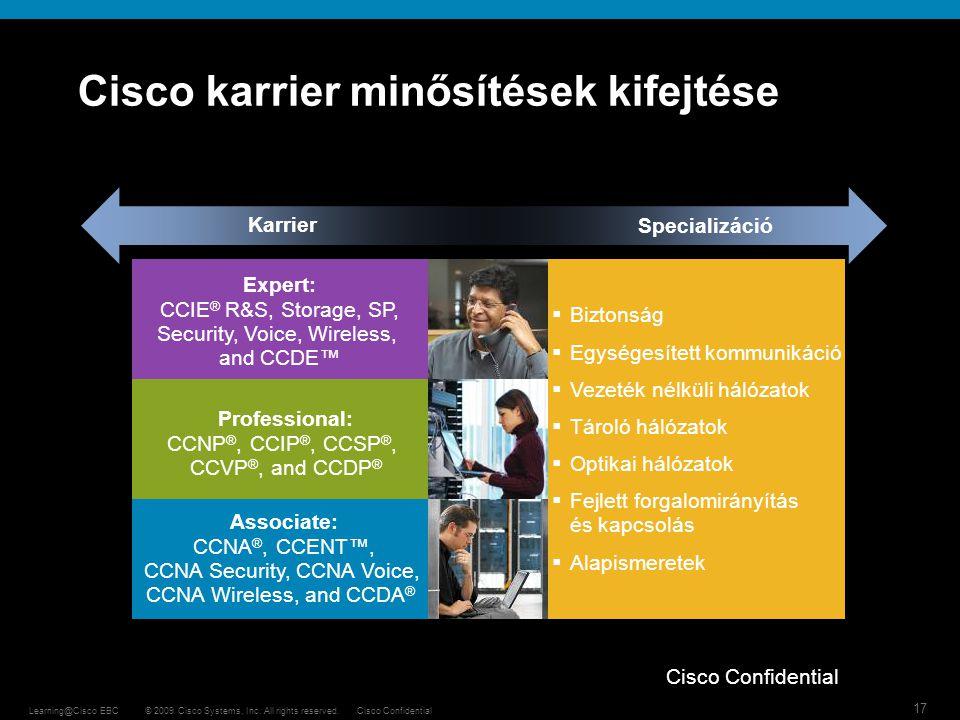 Cisco karrier minősítések kifejtése