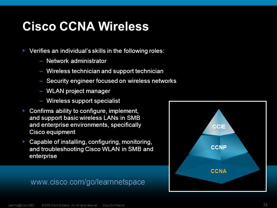 Cisco CCNA Wireless www.cisco.com/go/learnnetspace