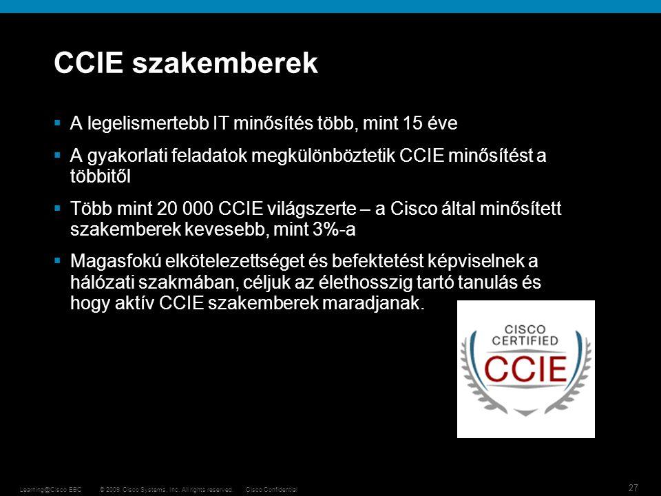 CCIE szakemberek A legelismertebb IT minősítés több, mint 15 éve
