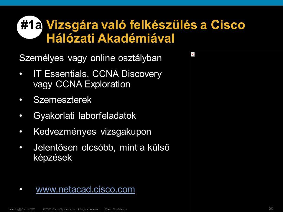 #1a Vizsgára való felkészülés a Cisco Hálózati Akadémiával
