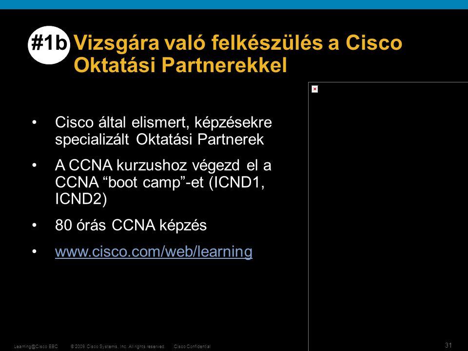 #1b Vizsgára való felkészülés a Cisco Oktatási Partnerekkel