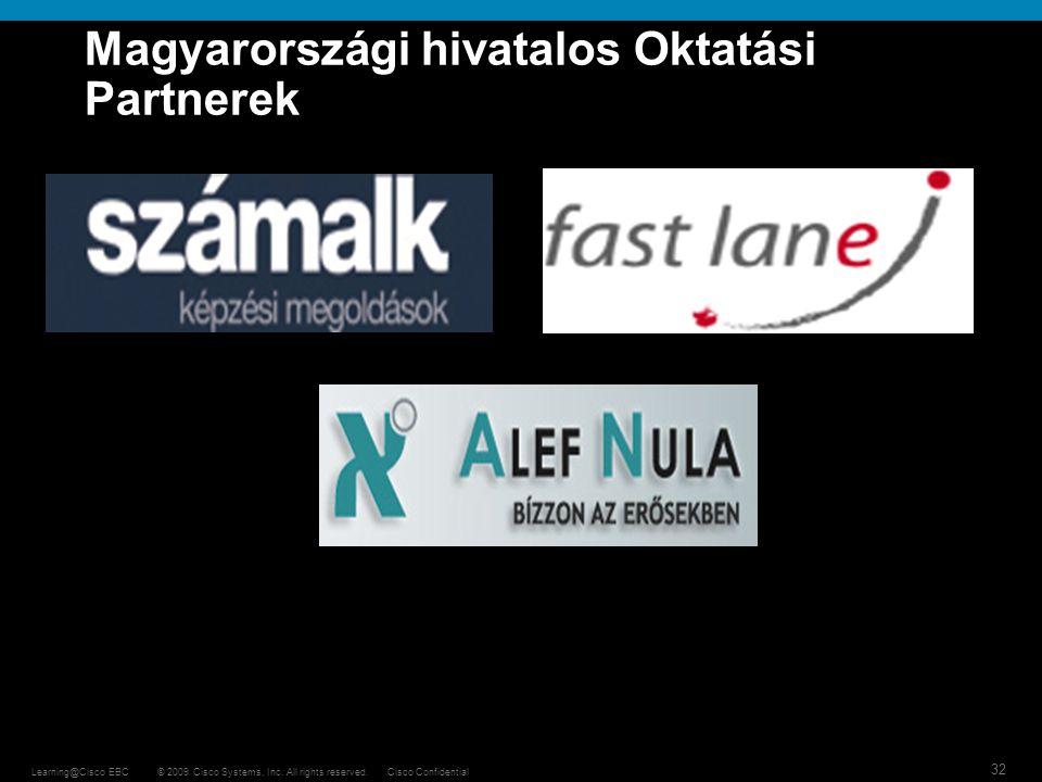 Magyarországi hivatalos Oktatási Partnerek