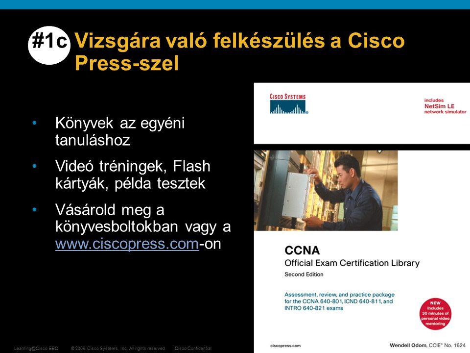 #1c Vizsgára való felkészülés a Cisco Press-szel