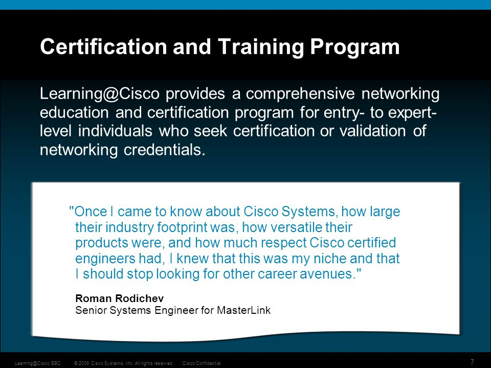 Certification and Training Program