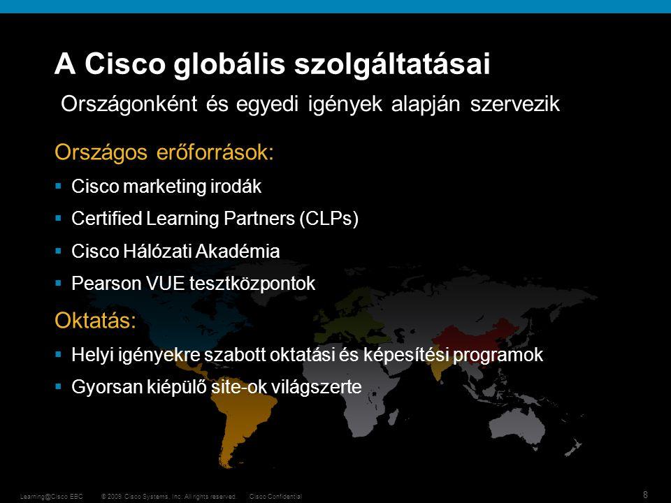 A Cisco globális szolgáltatásai