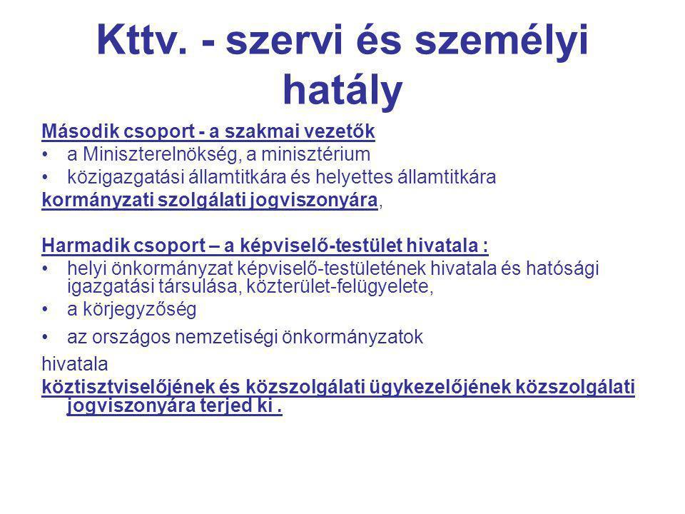 Kttv. - szervi és személyi hatály