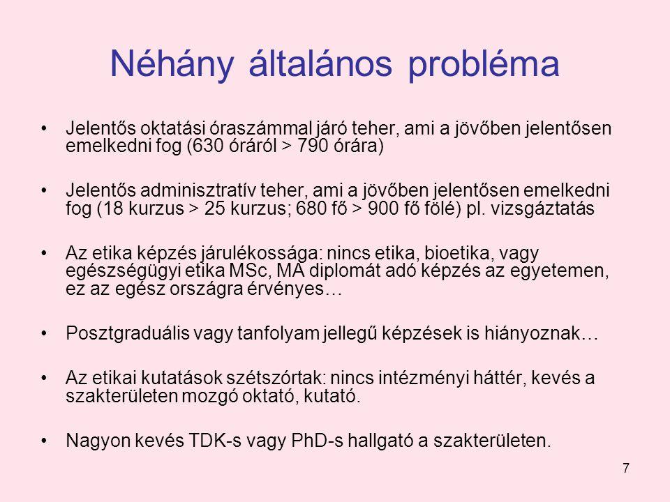 Néhány általános probléma