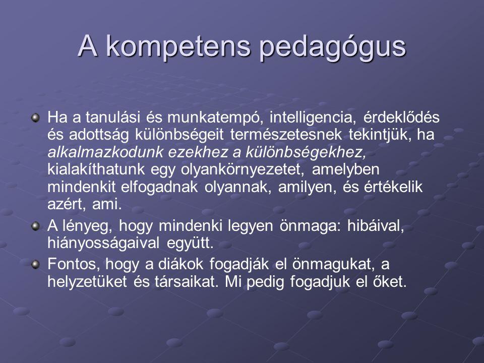 A kompetens pedagógus