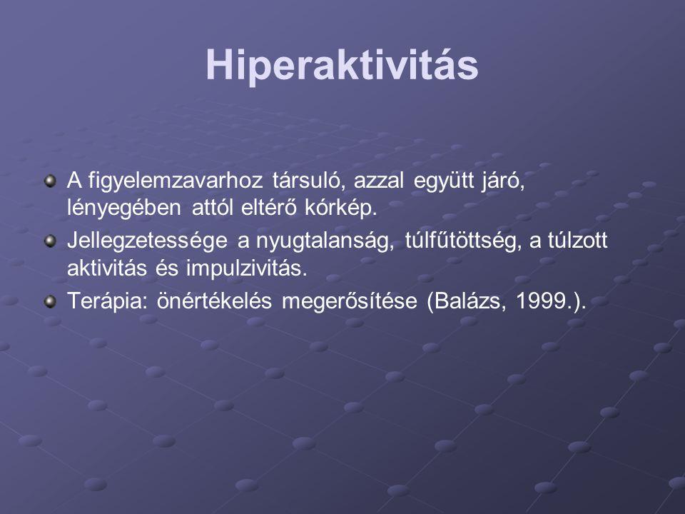 Hiperaktivitás A figyelemzavarhoz társuló, azzal együtt járó, lényegében attól eltérő kórkép.
