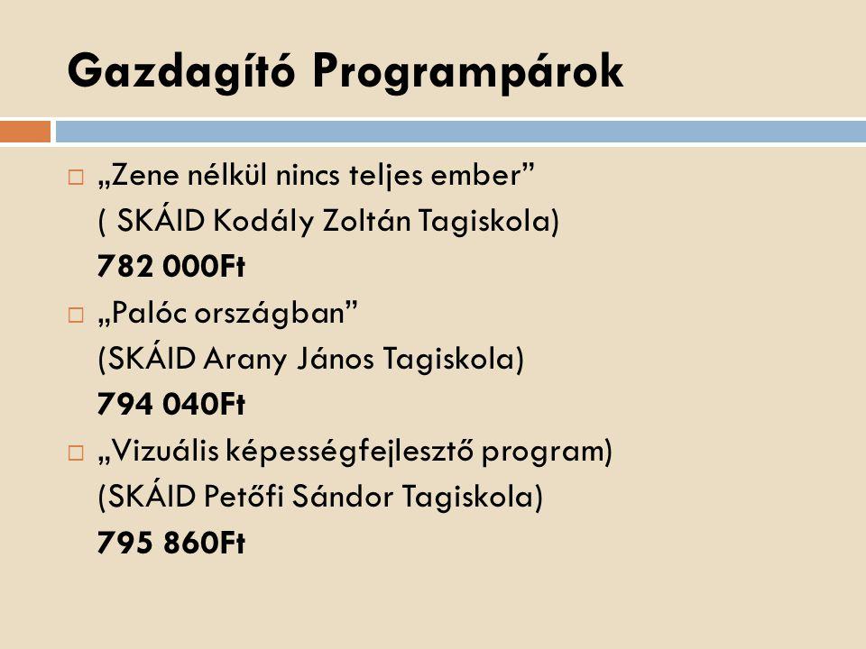 Gazdagító Programpárok