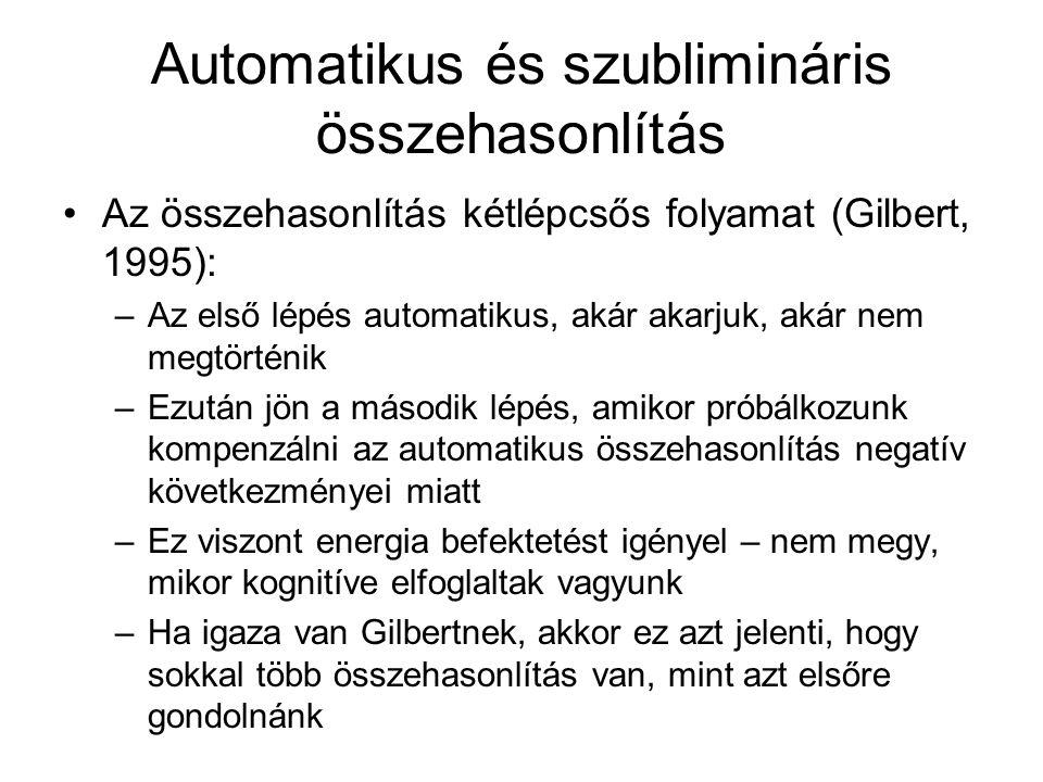 Automatikus és szublimináris összehasonlítás