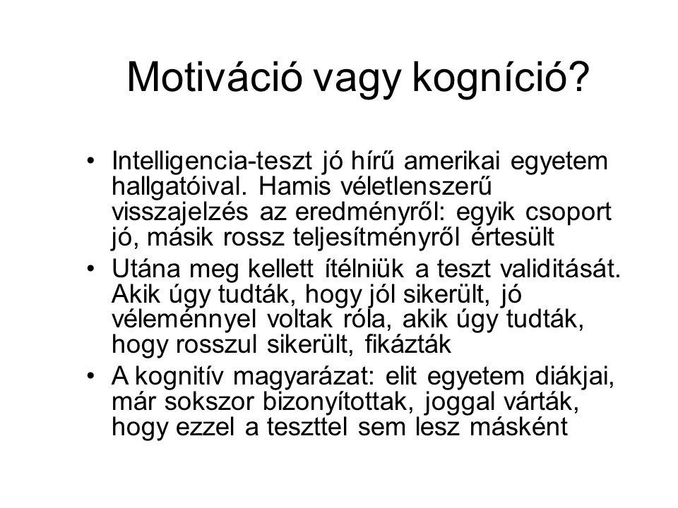 Motiváció vagy kogníció