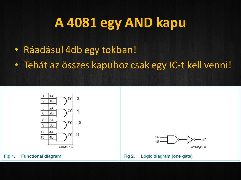 A 4081 egy AND kapu Ráadásul 4db egy tokban!
