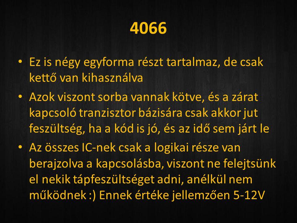 4066 Ez is négy egyforma részt tartalmaz, de csak kettő van kihasználva.
