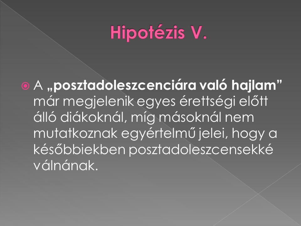 Hipotézis V.