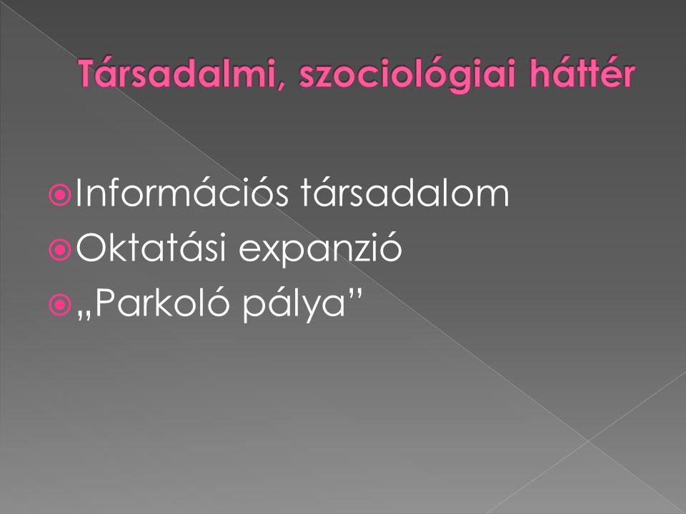Társadalmi, szociológiai háttér