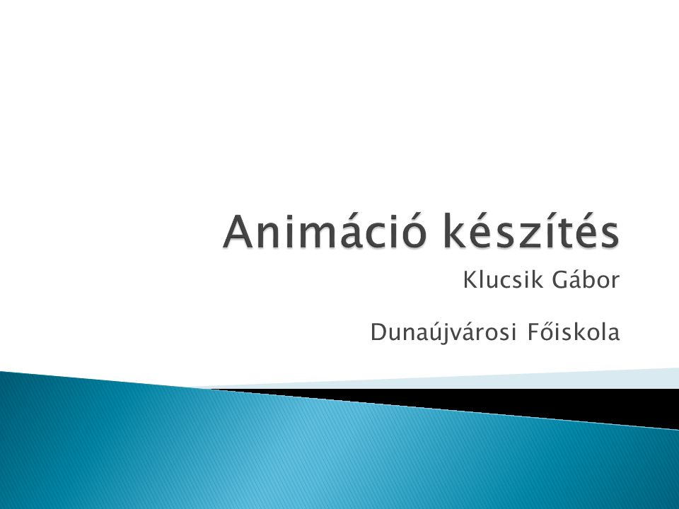 Klucsik Gábor Dunaújvárosi Főiskola