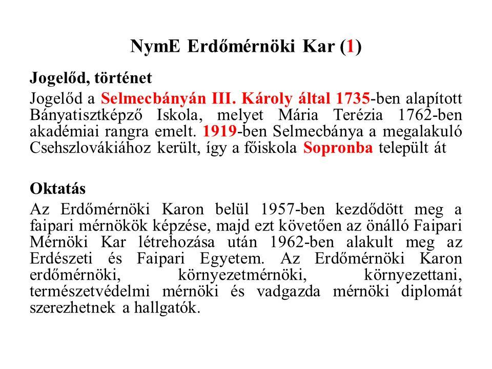 NymE Erdőmérnöki Kar (1)