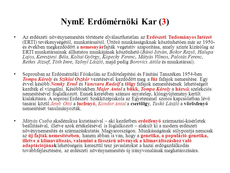 NymE Erdőmérnöki Kar (3)