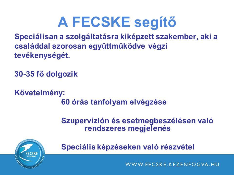 A FECSKE segítő Speciálisan a szolgáltatásra kiképzett szakember, aki a. családdal szorosan együttműködve végzi.