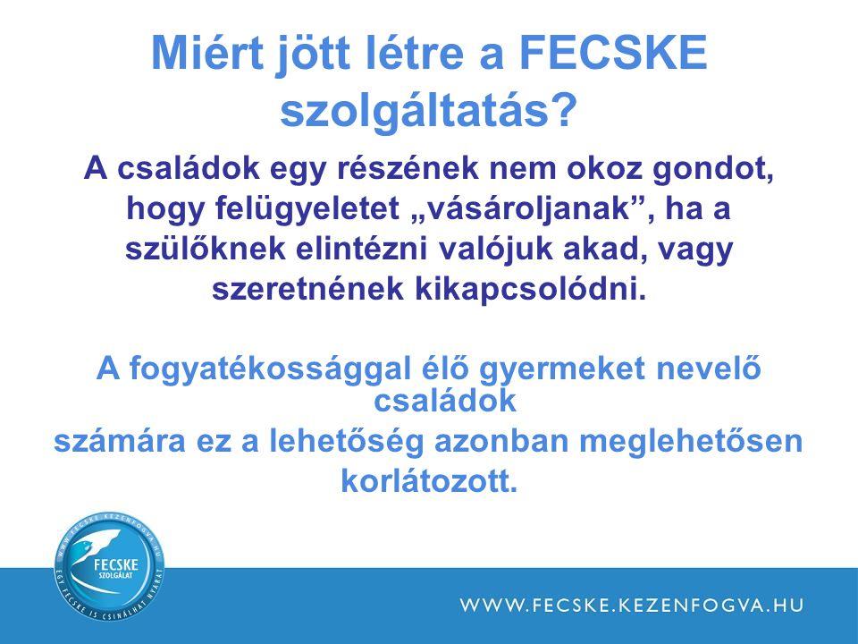 Miért jött létre a FECSKE szolgáltatás